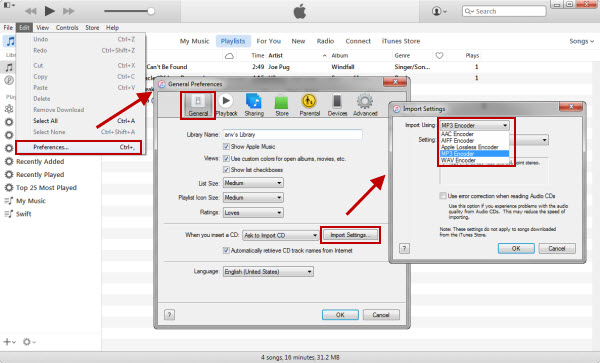 Convert iTunes music with iTunes
