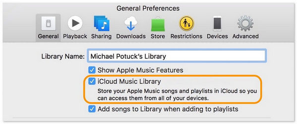 Turn off iCloud Music Library on Mac