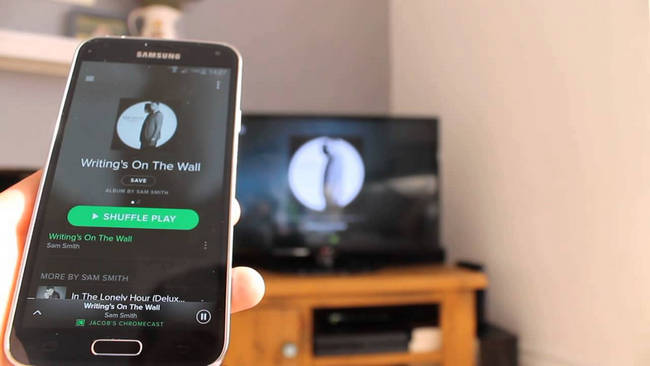 play spotify on samsung tv
